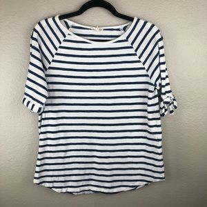 Jane and Delancey Striped Shirt with Bow Details